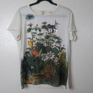 Scotch & Soda Floral Graphic T-shirt. Size 4